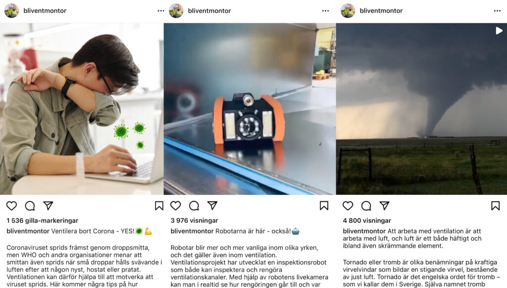 Instagramkonto för ungdomar
